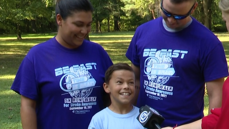 Wyatt Nowiski was the youngest stroke survivor at the race
