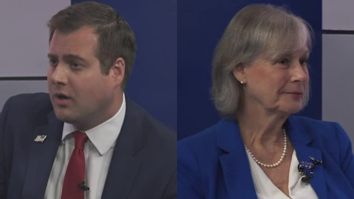 Lee Conklin speaks to both Derek Merrin and Nancy Larson who are running for the Ohio House of...