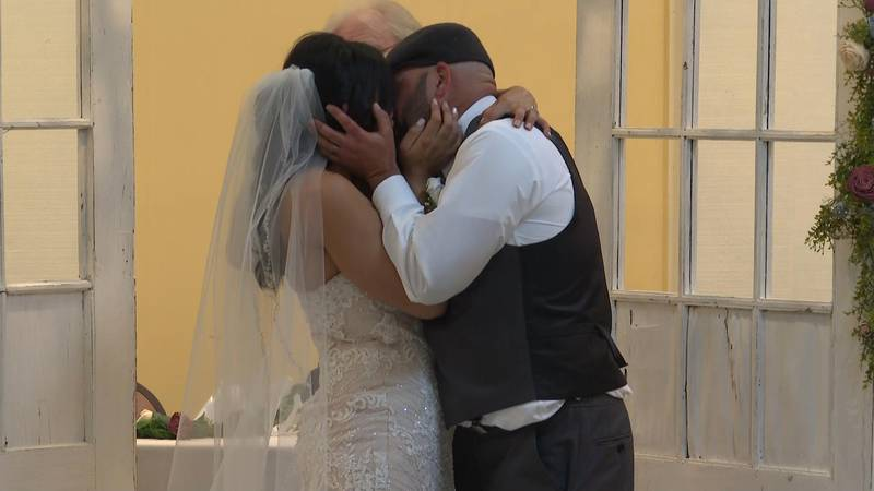 The couple had to cancel their wedding due to COVID, then the second was flooded. Last minute...