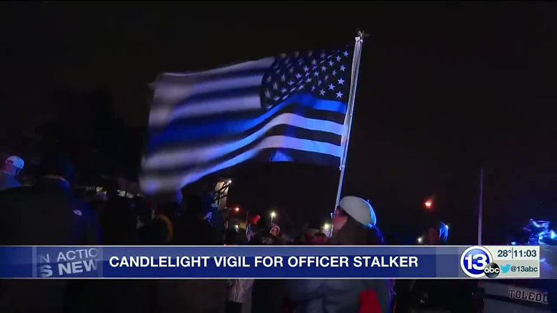 Vigil for Officer Stalker