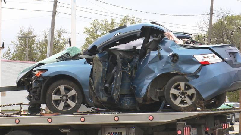 Two hospitalized in Sunday morning car crash