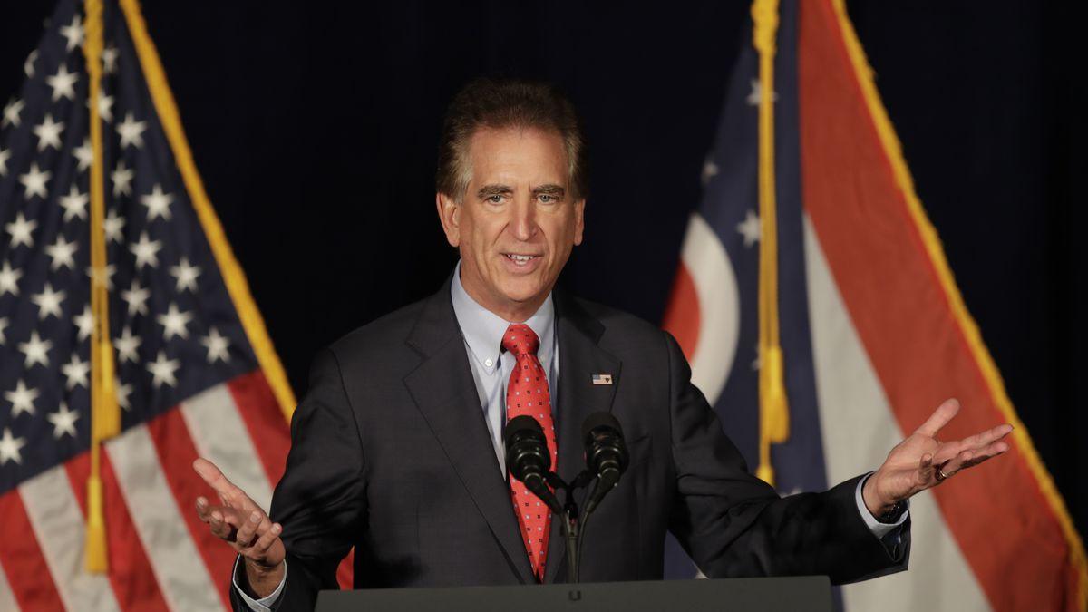 U.S. Rep. Jim Renacci, R-Ohio speaks at the Mansfield Lahm Regional Airport, Wednesday, Oct....