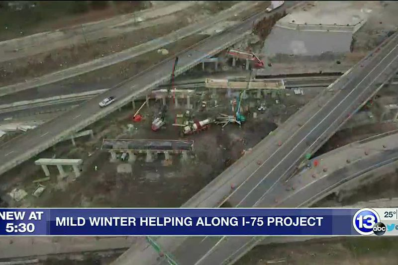 Mild Winter Helps Along I-75 Project