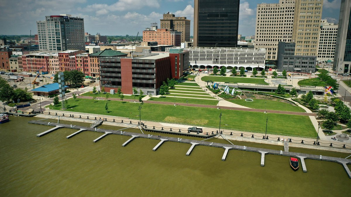 The docks outside Promenade Park in Toledo will be temporarily removed for the opening ceremony...