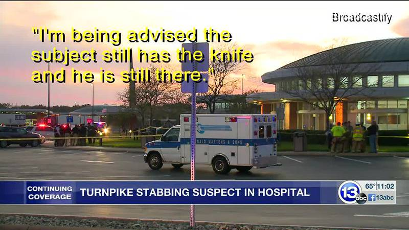 A man accused of stabbing and killing one man, the stabbing another at a turnpike plaza is in...