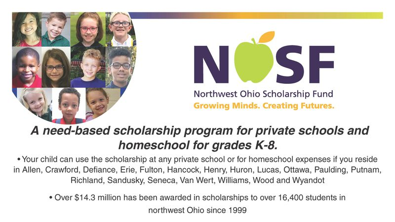 Northwest Ohio Scholarship Fund is taking applications for the 2021-2022 school year. Parents...