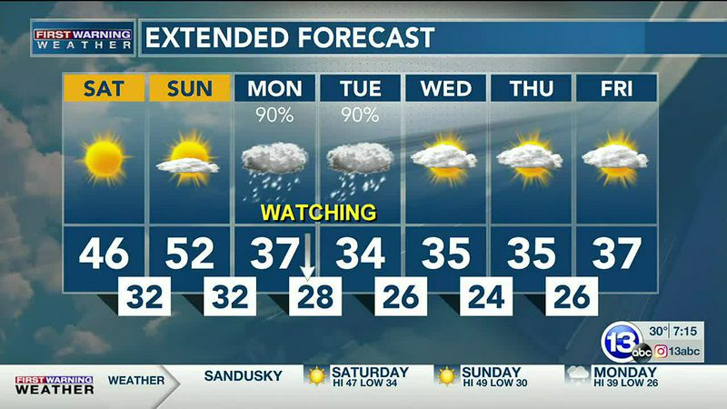 Nov. 28: Heather's Saturday AM Forecast