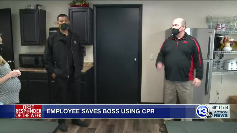 Employee uses CPR to save boss