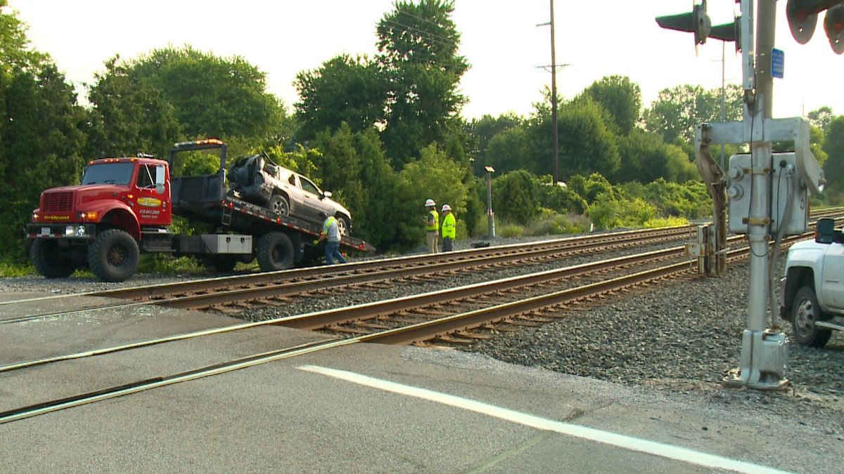 An SUV driver was injured when he passed a closed train crossing gate in Swanton on Thursday,...