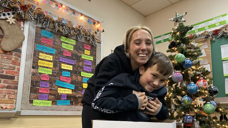 9-year-old Caden Laney is behind a toy drive, donating gifts to kids finding themselves...