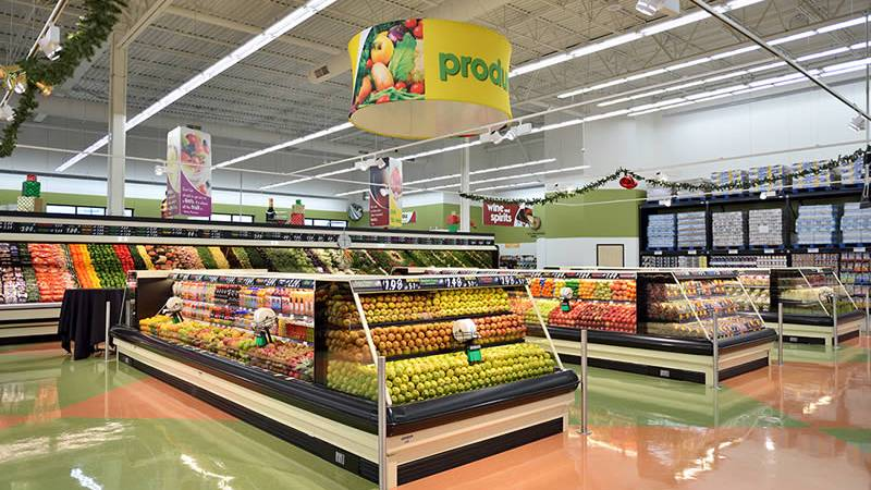 Produce section in a supermarket (WBAY file photo)