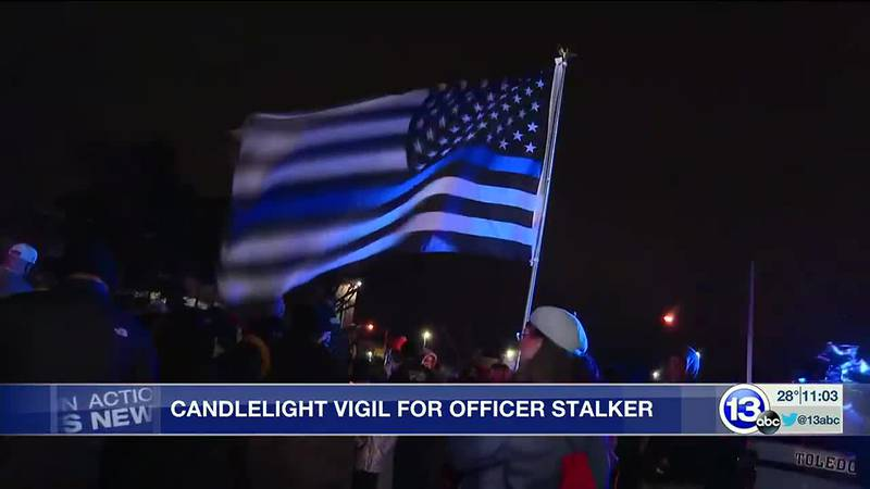 Vigil for Officer Stalker