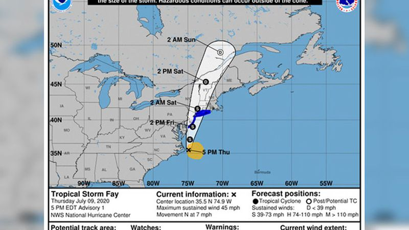 The U.S. National Hurricane Center announced the storm's formation Thursday...