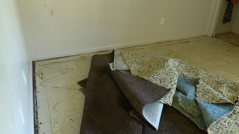 One tenant's carpet has been soaked for four days, and management tells her it will be another...