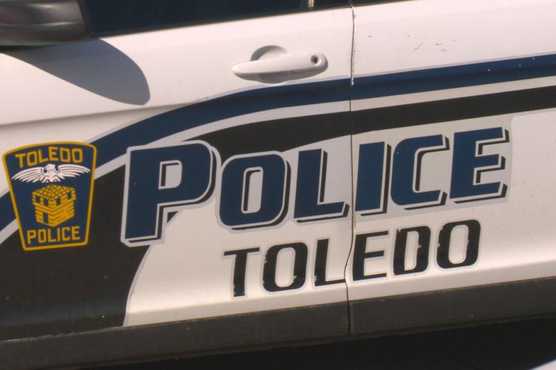 The door of a Toledo Police cruiser.