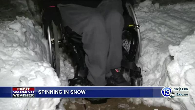 Chair users tell 13abc about accessibility issues in winter weather