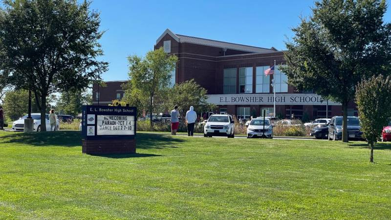 Bowsher High School students were dismissed in stages following a call to police claiming...