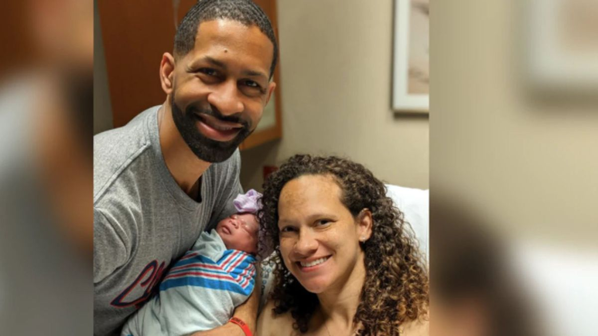 Eden Berry with her parents, Andrew and Brittan. Baby Berry was born on Day 1 of the NFL Draft....