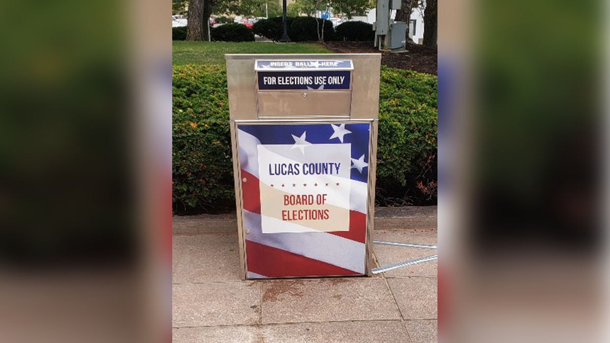 The Lucas County Board of Elections unveiled their new, larger ballot drop box outside their...