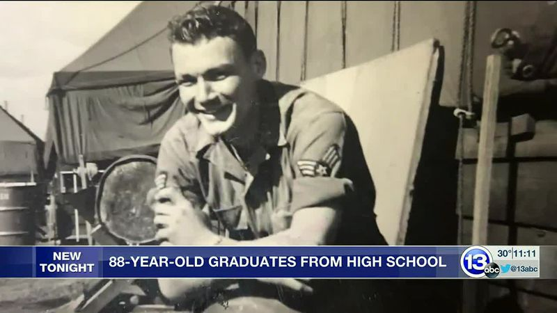 Vincent Golembioski, 88, received his high school diploma 70 years after graduation.
