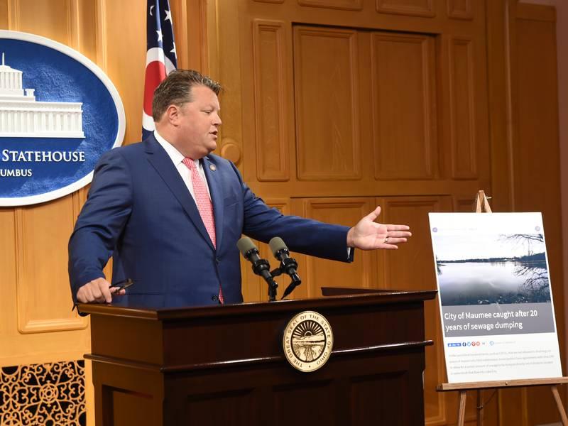 Rep. Jon Cross has introduced new legislation that would ban municipalities from dumping sewage...