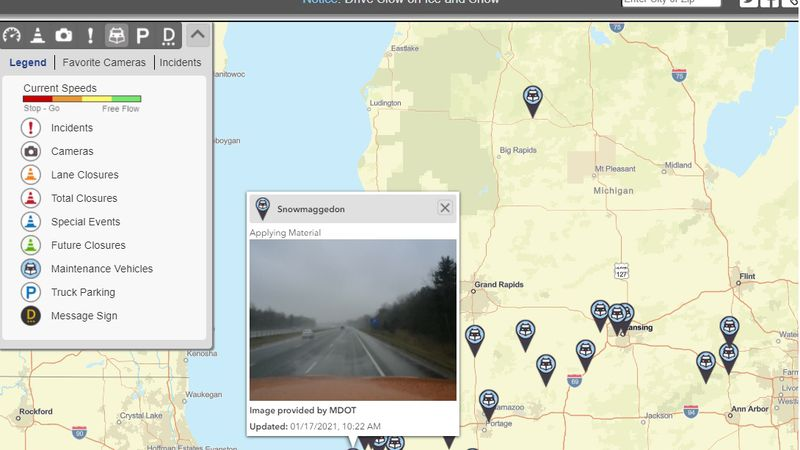 MDOT's interactive map now shows the names of snowplows on the roadways, including...