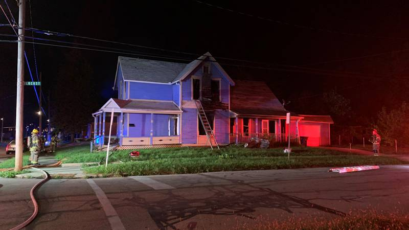 Fire officials have called an arson investigator after a fire damaged a home on Locust on...