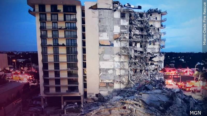 Condo de Florida colapsa. (Cropped Miami-Dade Fire Rescue)