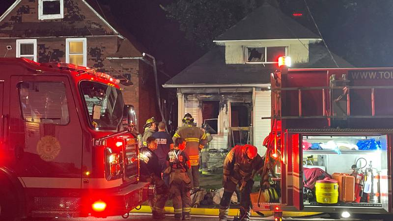 A fire broke out at the same home where an 18-year-old was shot and killed the night before.