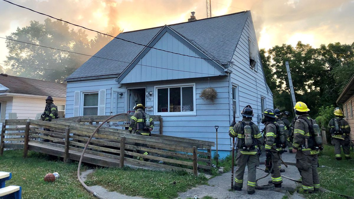 Crews battled a fire Monday, July 6 at a residence on Fries Ave. in Toledo. (Photo courtesy of Toledo Fire & Rescue Twitter)