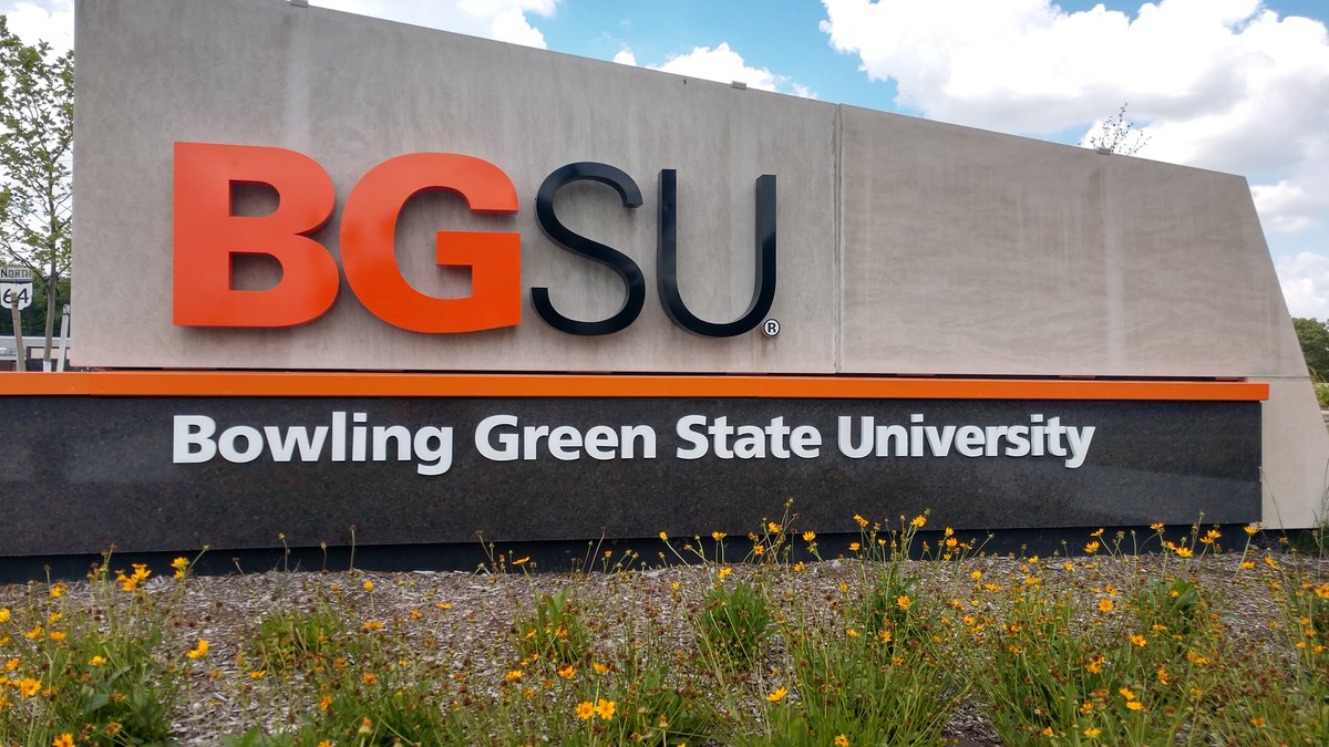 Bowling Green State University campus in Bowling Green, Ohio.