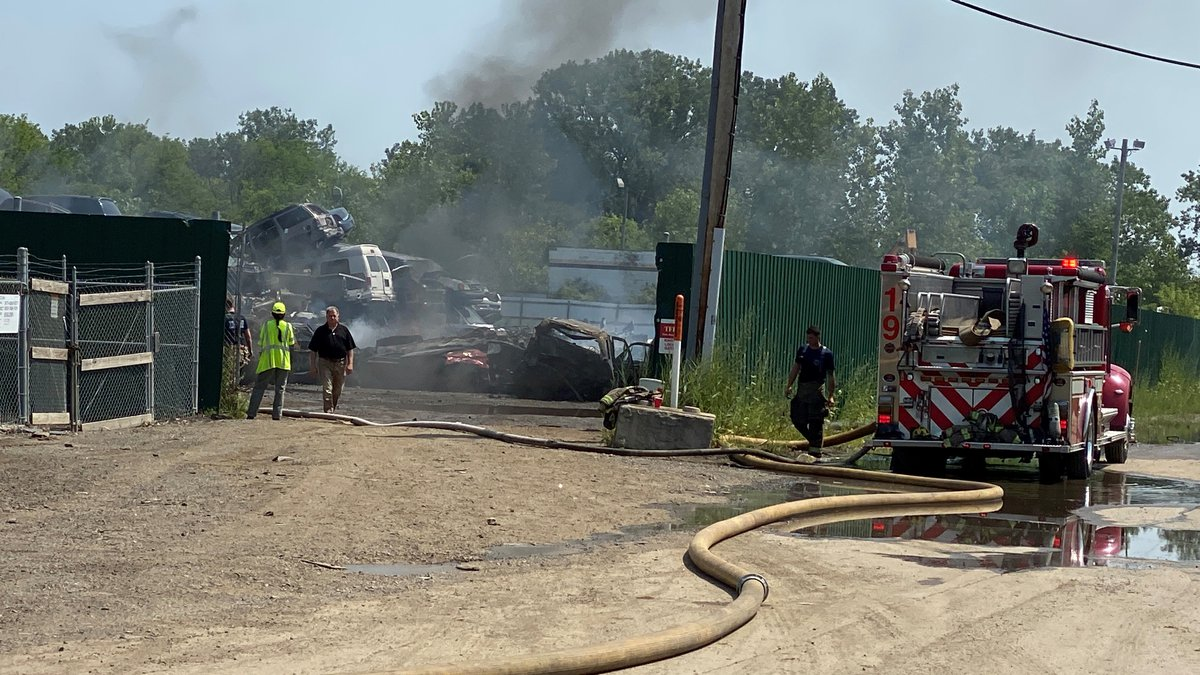 Crews were on the scene of a fire in North Toledo at Cherry Picked Auto on Wednesday, July 28.