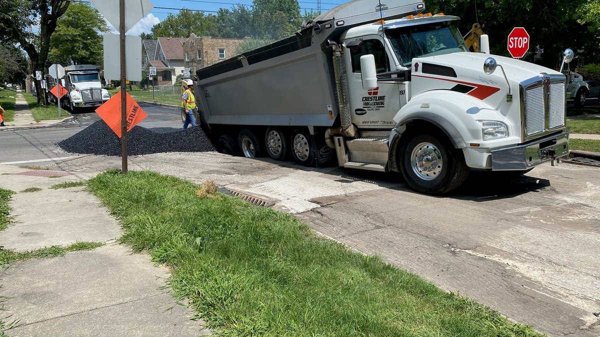 The intersection of Berdan Avenue and Drexel Drive was shut down Wednesday after a dump truck...