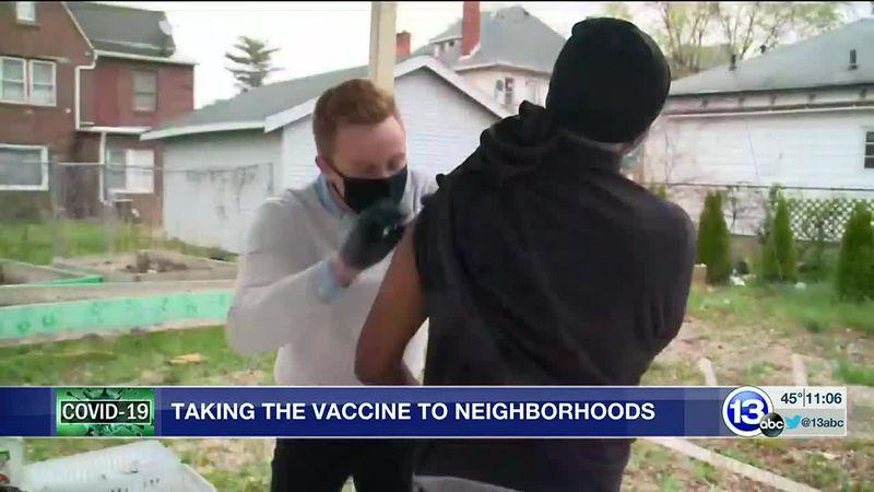 Vaccine distribution heads into Toledo neighborhood