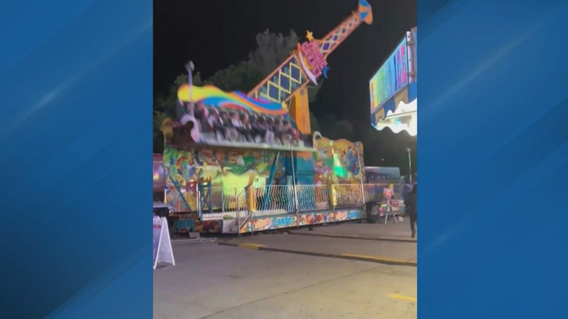 A festival ride in Michigan was caught on camera malfunctioning.