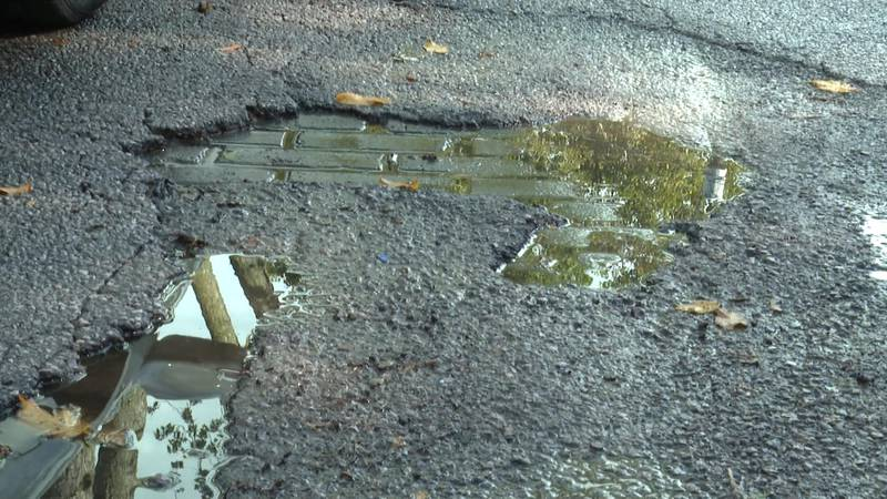 Residents of Delence say the road hasn't been paved in more than 30 years.