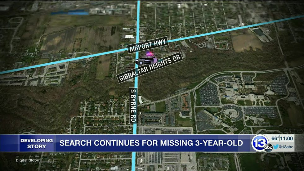 search for Braylen Noble Day 2