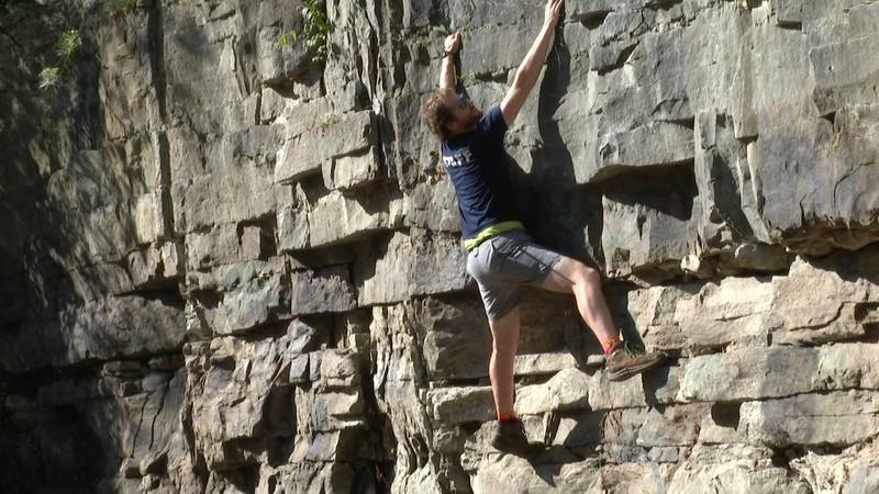 The bouldering wall will be one of the activities featured at the Outdoor Expo.