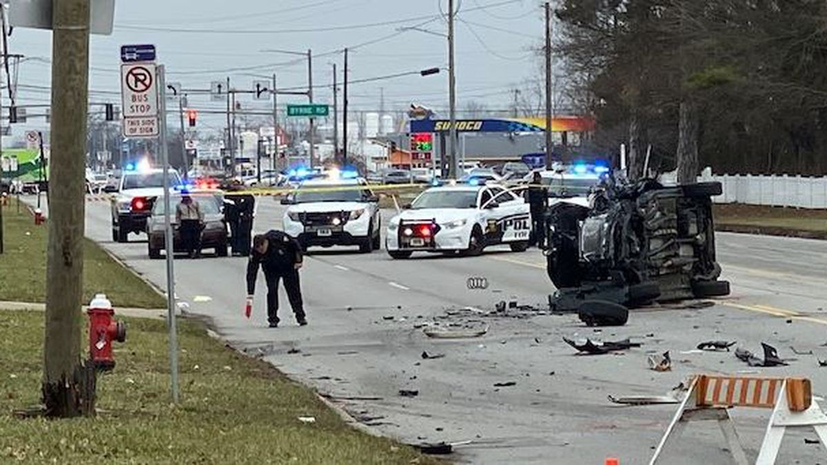 Accident on Hill Ave. January 14, 2020.