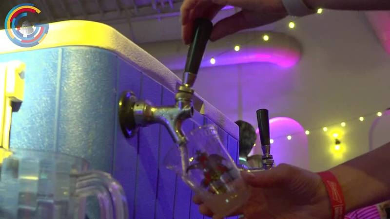 Beer pouring at a beer competition in Washington, D.C.