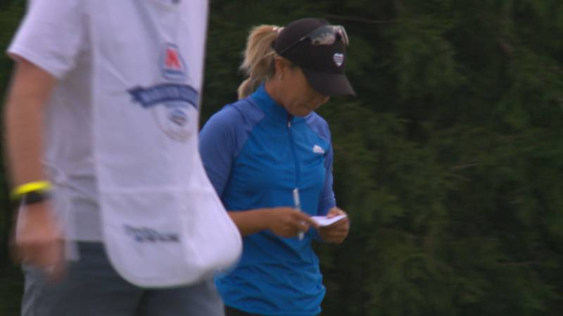 Danielle King shares the lead after the first round of the LPGA's Marathon Classic presented by...