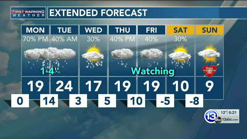 The bitter cold continues, with more snow arriving tomorrow! Dan Smith has the details.