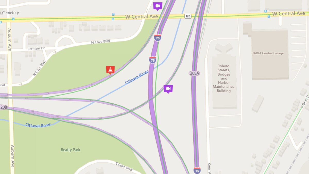 The ramp from southbound I-75 to westbound I-475 is closed through Sunday evening for planned...