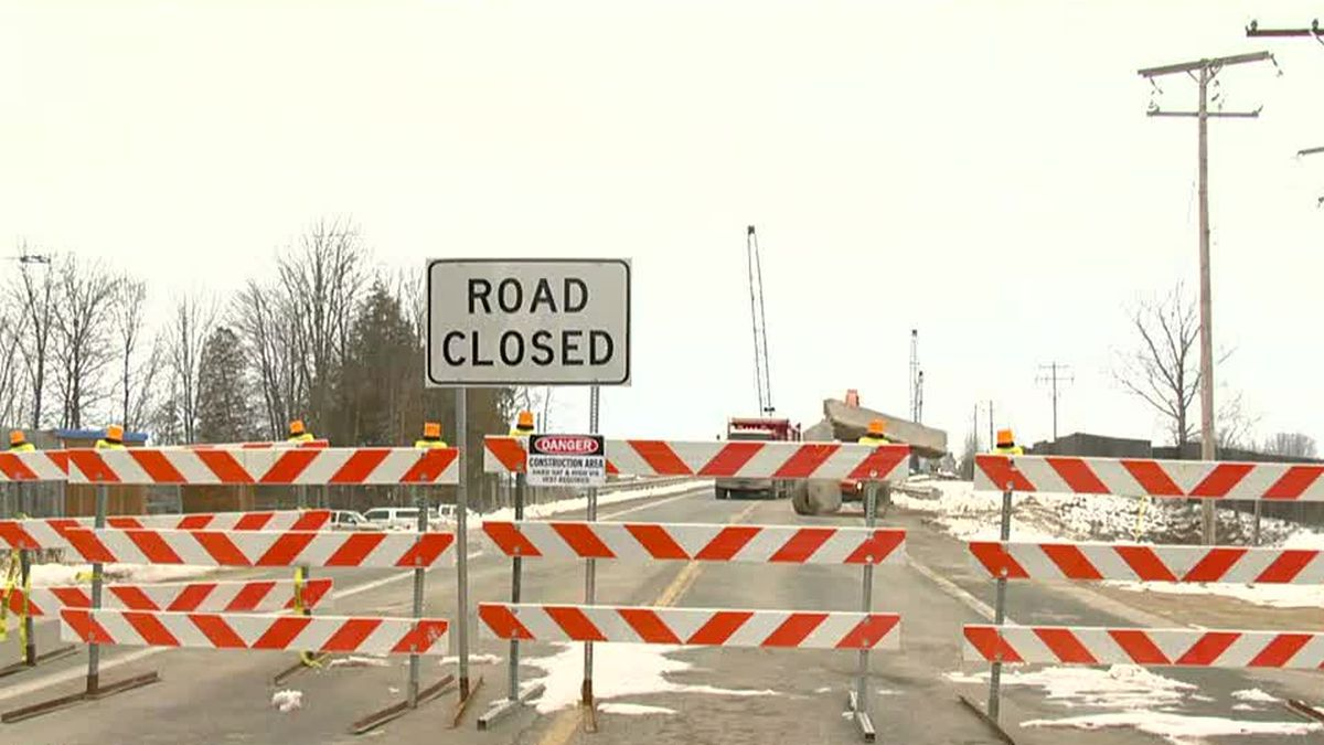 A water main break has closed a portion of Oregon Rd. in Northwood on Monday, Jan. 18.