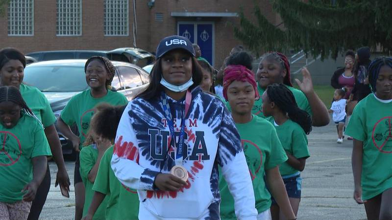O'shae Jones helped the Toledo Buffalo Soldiers unite the community following a football game...