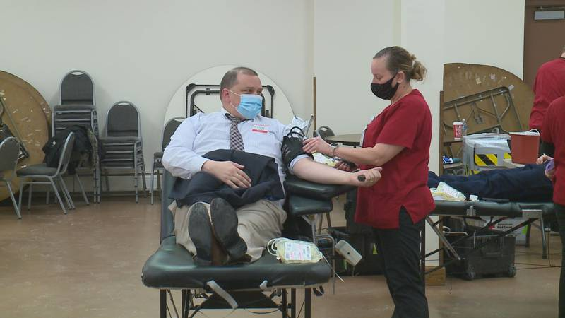 Dozens donate blood at annual Mayor D. Michael Collins Memorial Blood Drive in Toledo