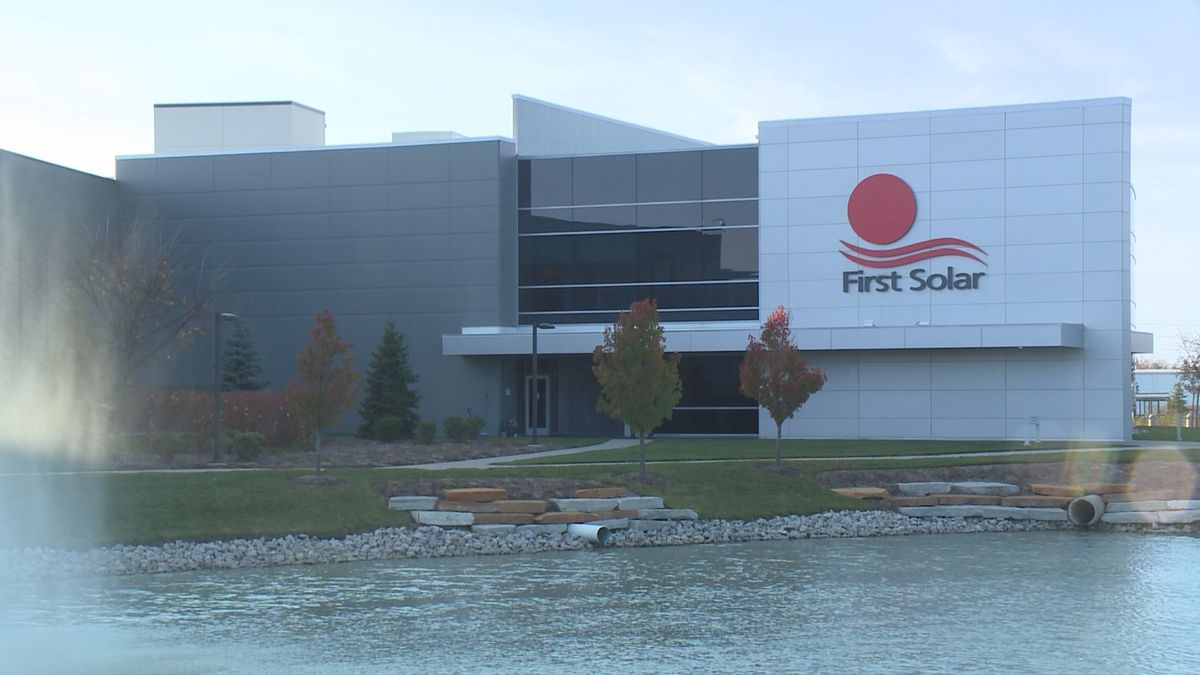 First Solar is building a new manufacturing facility in Lake Township.