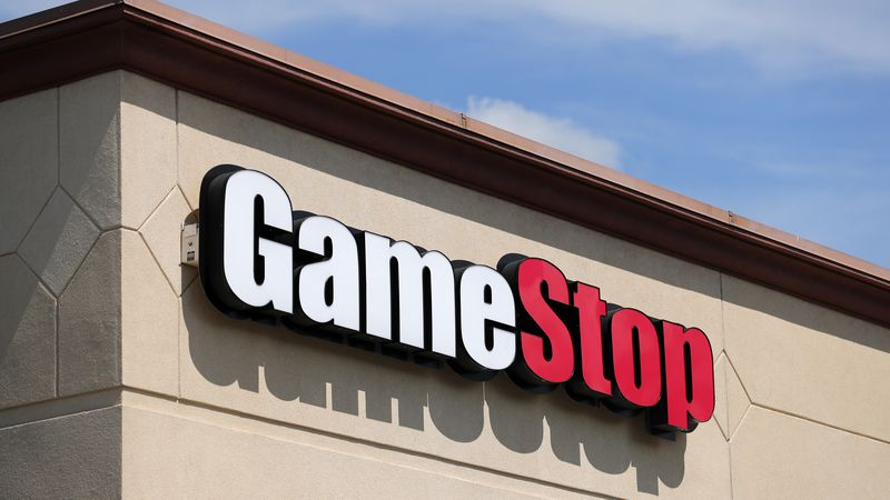 FILE - In this May 7, 2020 file photo, a GameStop store is seen in St. Louis. Two hedge funds...