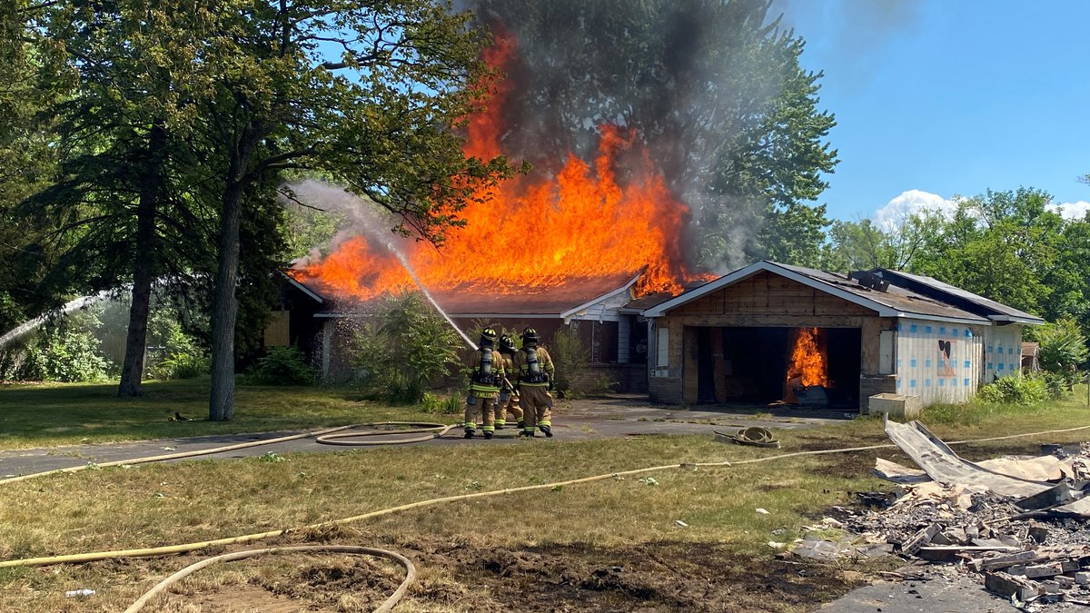 Sylvania Township firefighters got hands-on experience in battling flames on Sunday for fire...