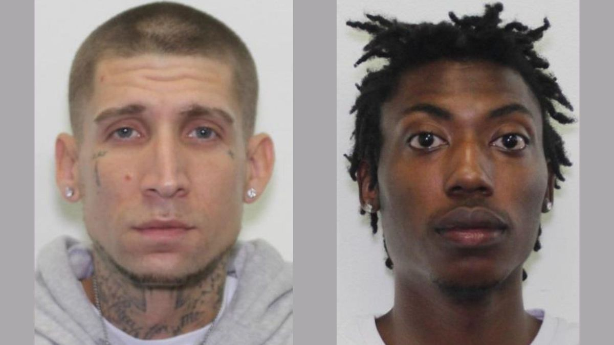 Steven Liner, left, and Charles Bishop are wanted by local and U.S. authorities.
